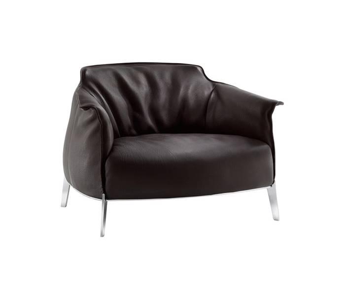 Il nostro catalogo di poltrone di qualità - Poltrona Archibald Gran Comfort - Pelle con basi in acciaio - Vedi di più